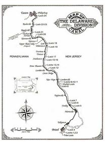 Friends of Delaware Canal map